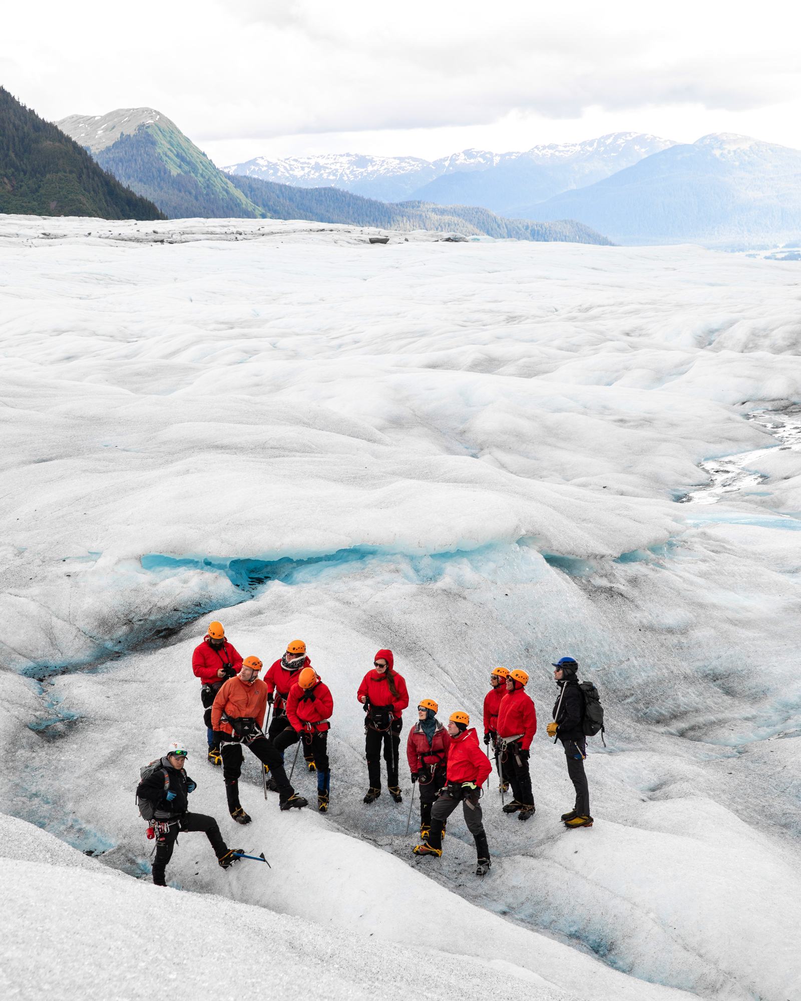 Active types have the option to climb a glacier as part of Cunard's Alaska-bound cruise