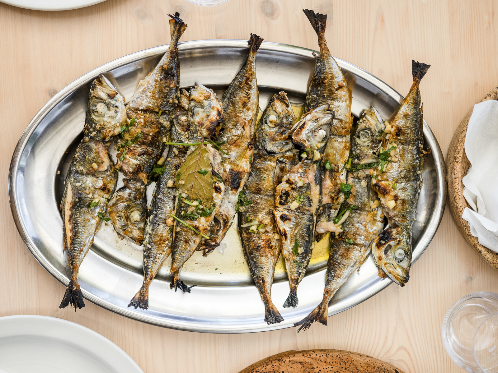 Both canned and grilled sardines are to be found on most menus in Lisbon and Porto